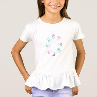 Jellyfish Girls' Ruffle T-Shirt