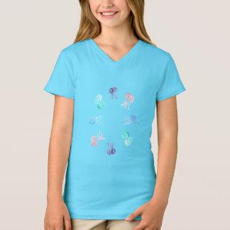 Jellyfish Girls' V-Neck T-Shirt