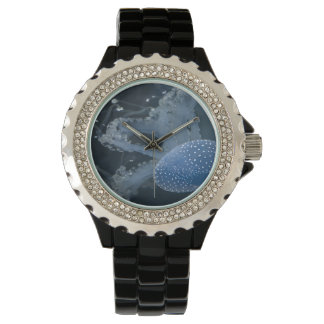 Jellyfish In Blue Wristwatch