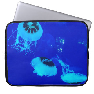 Jellyfish in Mexico (Blue) Laptop Sleeve