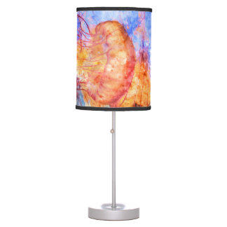 Jellyfish in the Ocean Watercolor Table Lamps