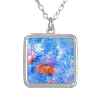 Jellyfish in the Sea Silver Plated Necklace