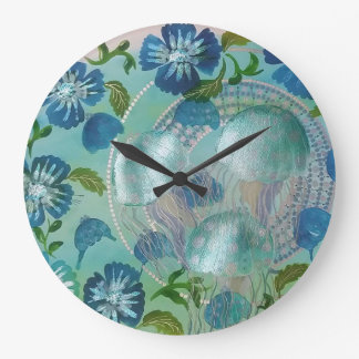 Jellyfish Large Clock