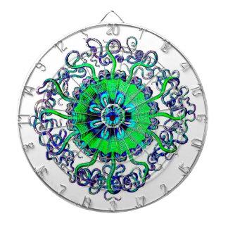 Jellyfish Mandala Pop Art Graphic Design Game Dart Boards