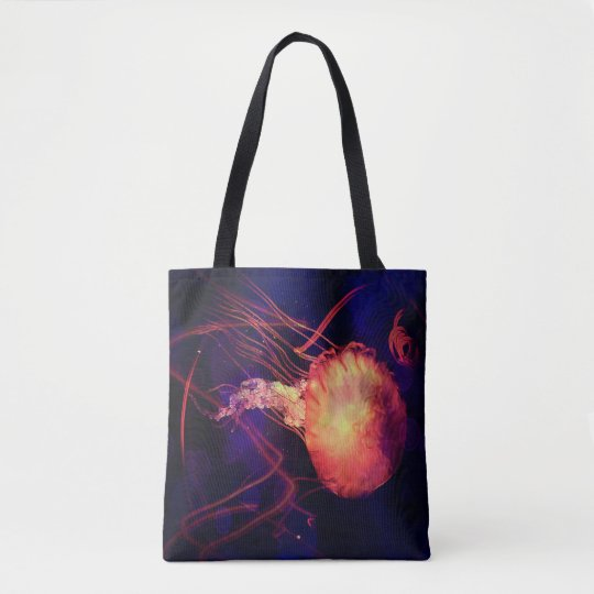 Jellyfish of the Blacklight Electro Rave Tote Bag