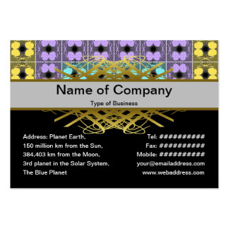 Jellyfish RGB Grid 2 Inverted Large Business Card