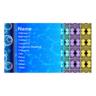 Jellyfish RGB Grid Inverted Business Cards