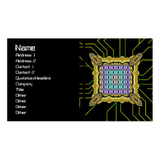 Jellyfish RGB Grid Inverted Pack Of Standard Business Cards