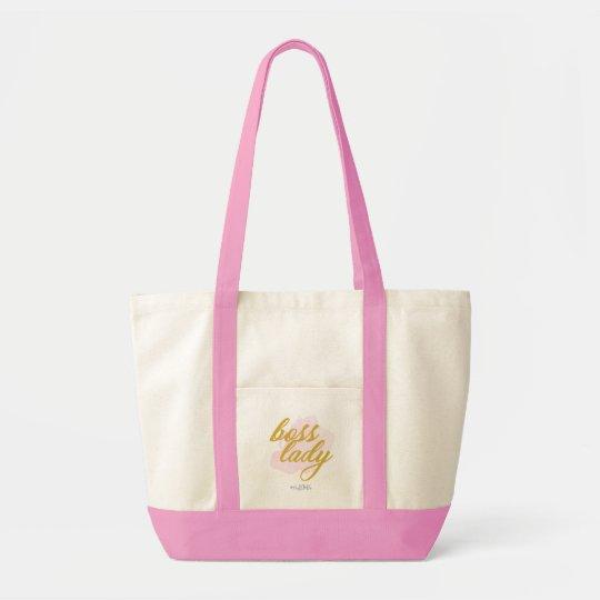 "JEM ""Boss Lady"" Large Pink Tote Bag"