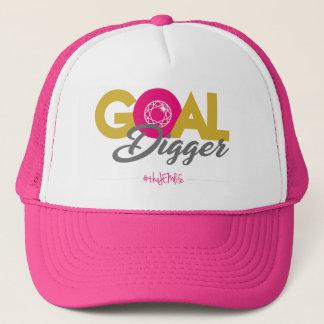"""JEM """"Goal Digger"""" Pink Trucker Hat"""