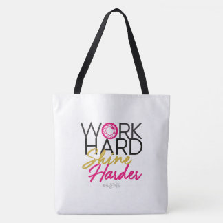 JEM Work Hard Shine Harder Pink Tote Bag