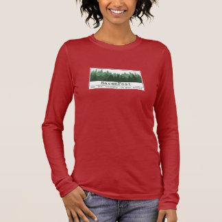 Jen - Long Sleeve Trees Brown L Long Sleeve T-Shirt