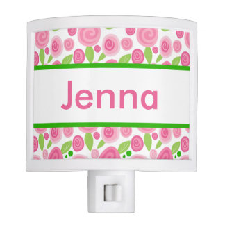 Jenna's Personalized Rose Nightlight Nite Light