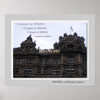 JENNERS, an Edinburgh institution Poster
