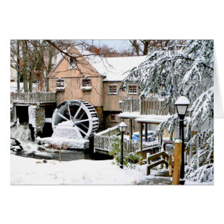 Jenney Grist Mill in Plymouth, MA Card