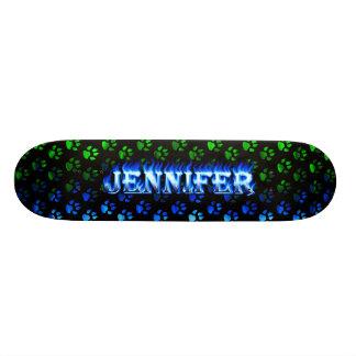 Jennifer blue fire Skatersollie skateboard