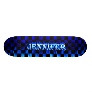 Jennifer blue fire Skatersollie skateboard.