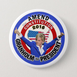 Jennifer Granholm for President 2016 3 Inch Round Button