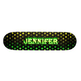 Jennifer green fire Skatersollie skateboard