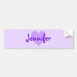 Jennifer in Purple Bumper Sticker