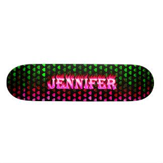 Jennifer pink fire Skatersollie skateboard
