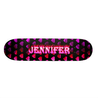 Jennifer pink fire Skatersollie skateboard.