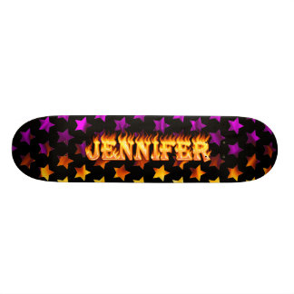 Jennifer real fire Skatersollie skateboard.