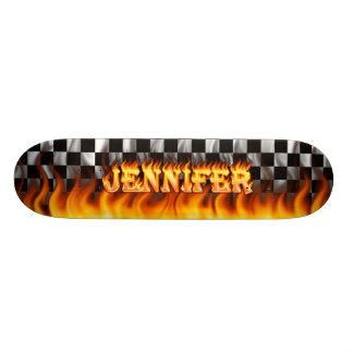 Jennifer real fire Skatersollie skateboard