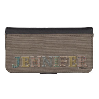 Jennifer Wallet Cellphone Case | Oxford Tweed