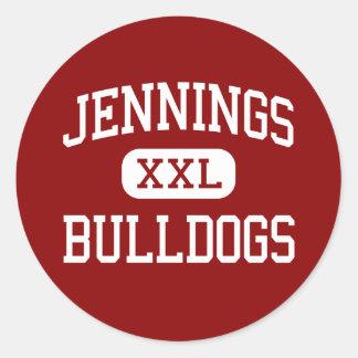 Jennings - Bulldogs - High - Jennings Louisiana Classic Round Sticker