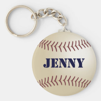 Jenny Baseball Keychain by 369MyName