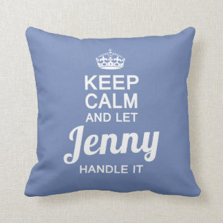 Jenny handle it! throw pillow