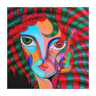 Jenny in love. canvas print