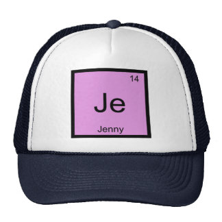 Jenny  Name Chemistry Element Periodic Table Trucker Hat