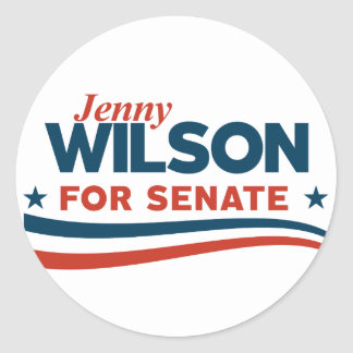 Jenny Wilson for Senate Classic Round Sticker
