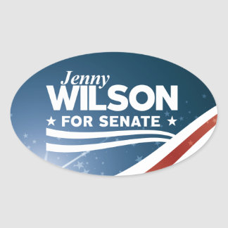 Jenny Wilson for Senate Oval Sticker