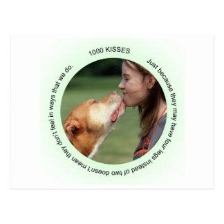 Jen's Jems 1000 kisses Postcard