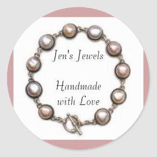 Jen's Jewels Handmade with Love Classic Round Sticker