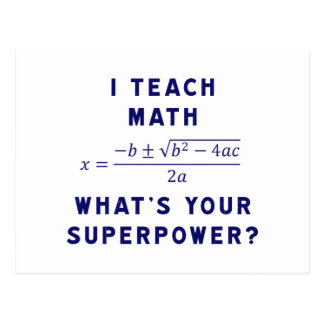 J'enseigne à des maths ce qui est la votre cartes postales
