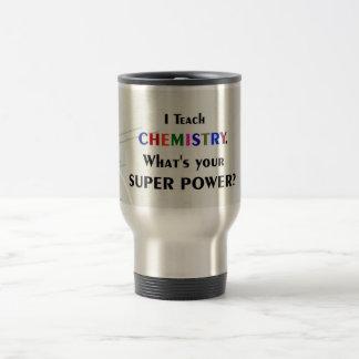 J'enseigne la chimie mug de voyage en acier inoxydable
