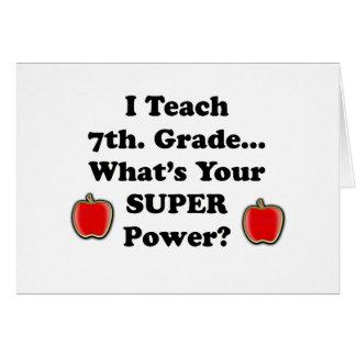 J'enseigne le 7ème. Catégorie Cartes