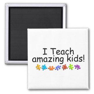 J'enseigne les enfants extraordinaires (le puzzle) magnets pour réfrigérateur