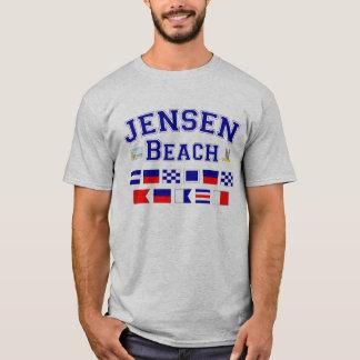 Jensen Beach, FL - Nautical Flag Spelling T-Shirt