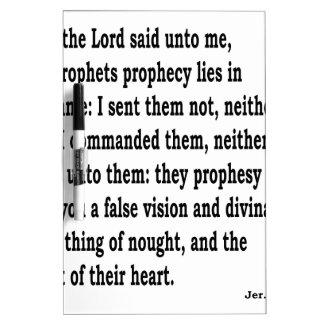 Jer. 14:14 Dry-Erase board