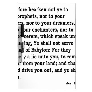 Jer. 27: 9-10 dry erase board
