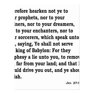 Jer. 27: 9-10 postcard