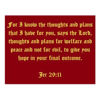 Jer 29:11 postcard