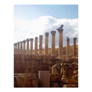 Jerash Roman Columns Custom Letterhead