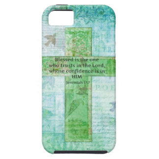 Jeremiah 17:7 Blessed is the man Bible verse cross iPhone 5 Covers