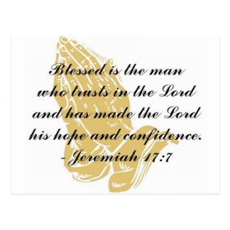 Jeremiah 17:7 Postcard